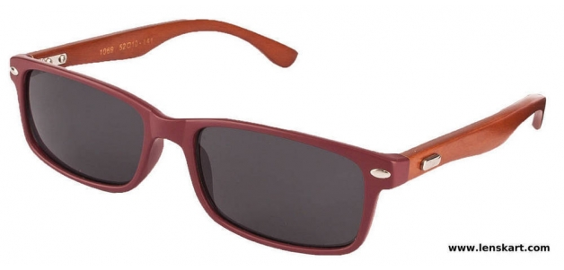 Vincent Chase VC-1069 Maroon Brown Grey Unisex Sunglasses