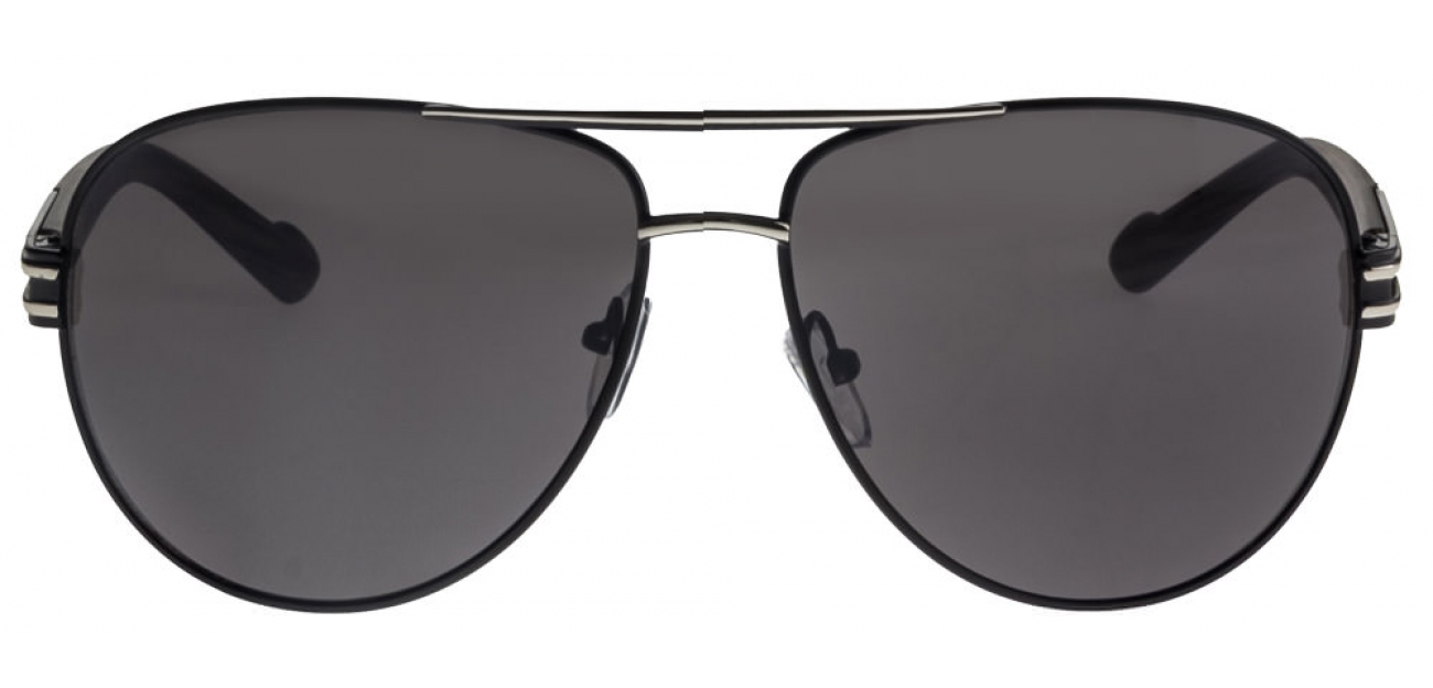 Vincent Chase Top Guns S628 Silver Black Grey Aviator Sunglasses