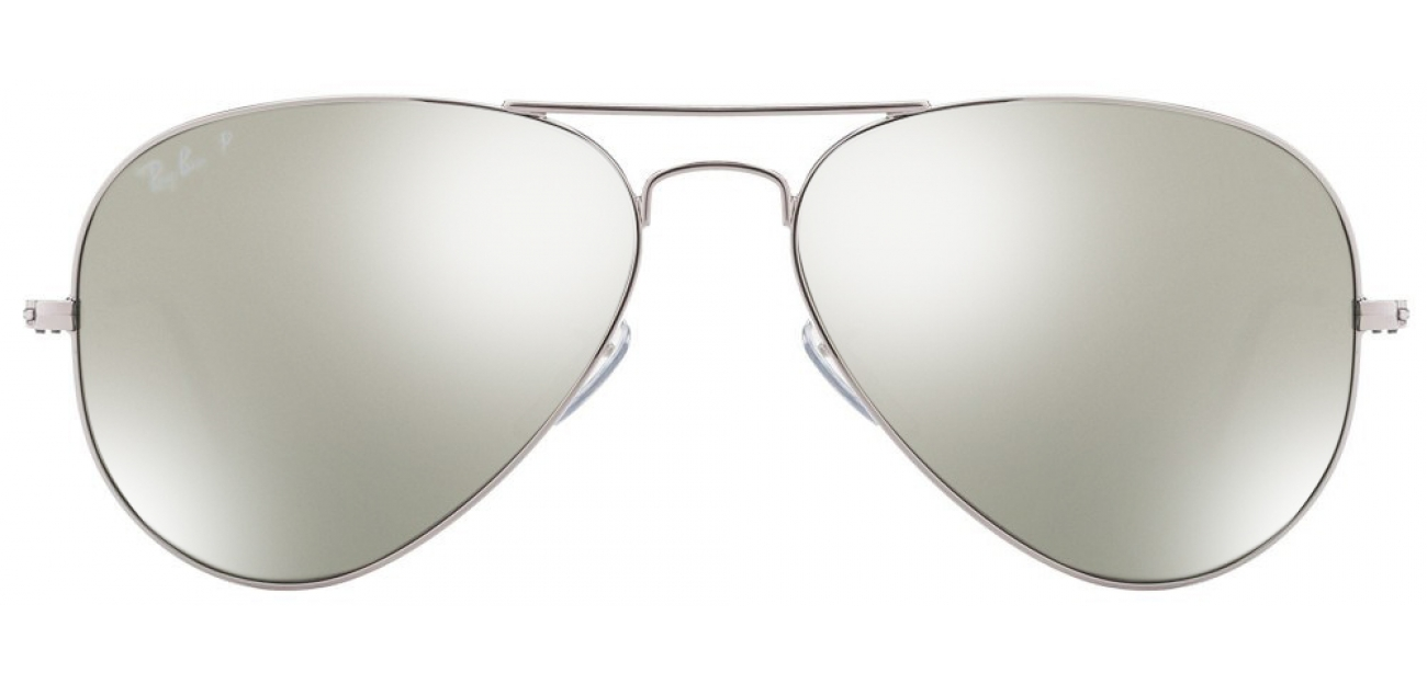Ray-Ban RB3025 003/59 Size:58 Silver Grey Reflector Mirror Aviator Polarized Sunglasses