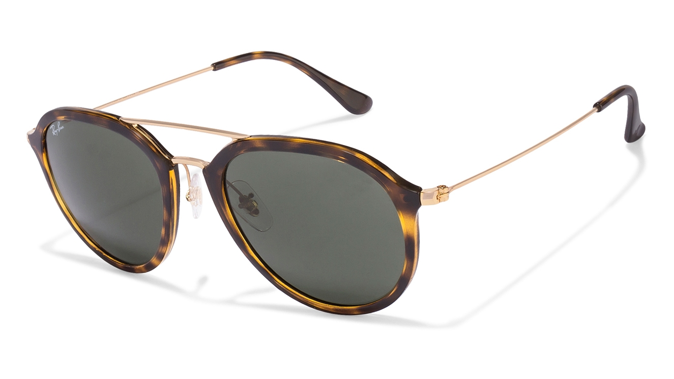 Ray Ban Glasses Frames Size : Ray-Ban RB4253 Size:53 Tortoise Golden Green 710 Aviator ...